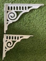 Art Deco Decorative Swirl Support Brackets in Two Sizes